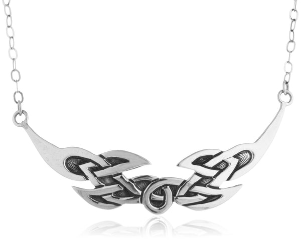 Real 925 Sterling Silver Celtic Knot Pendant 16.5 Inch Necklace