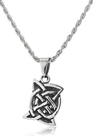 Real 925 Sterling Silver Celtic Pendant With A 24 Inch Rope Necklace