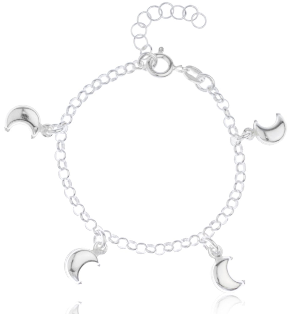 Real 925 Sterling Silver Crescent Moon...