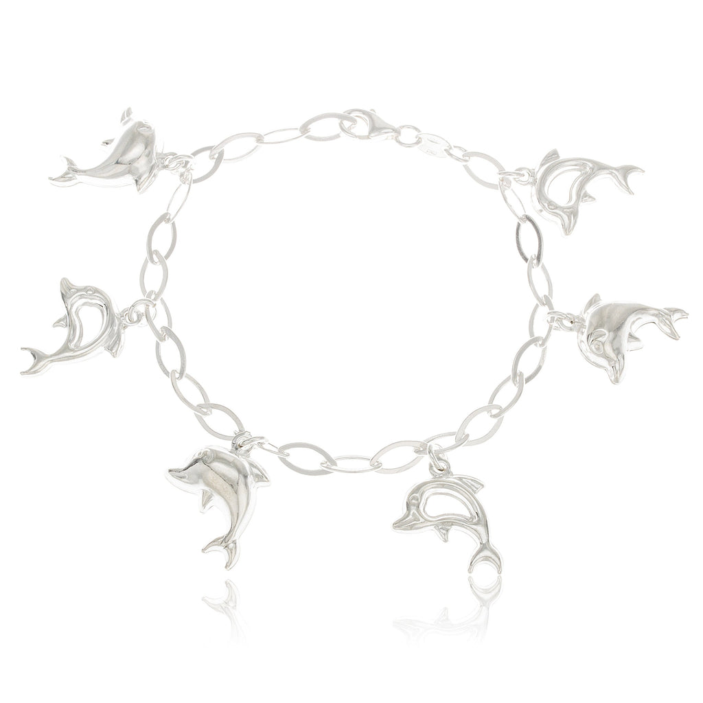 Real 925 Sterling Silver Dolphin Charmed...