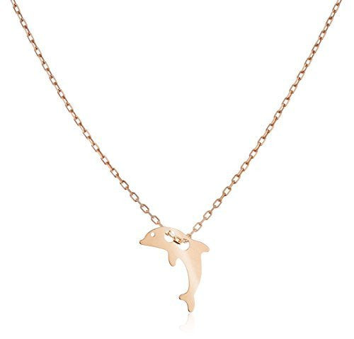 Real 925 Sterling Silver Dolphin Pendant...