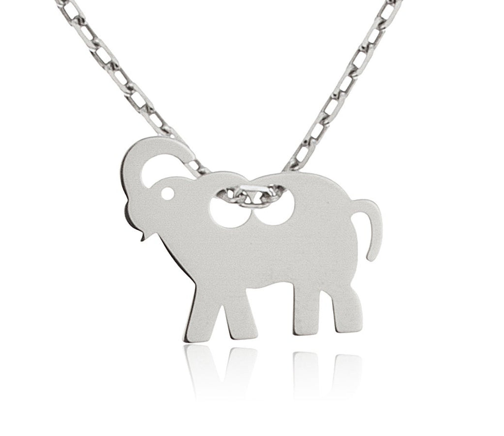 Real 925 Sterling Silver Elephant Pendant...