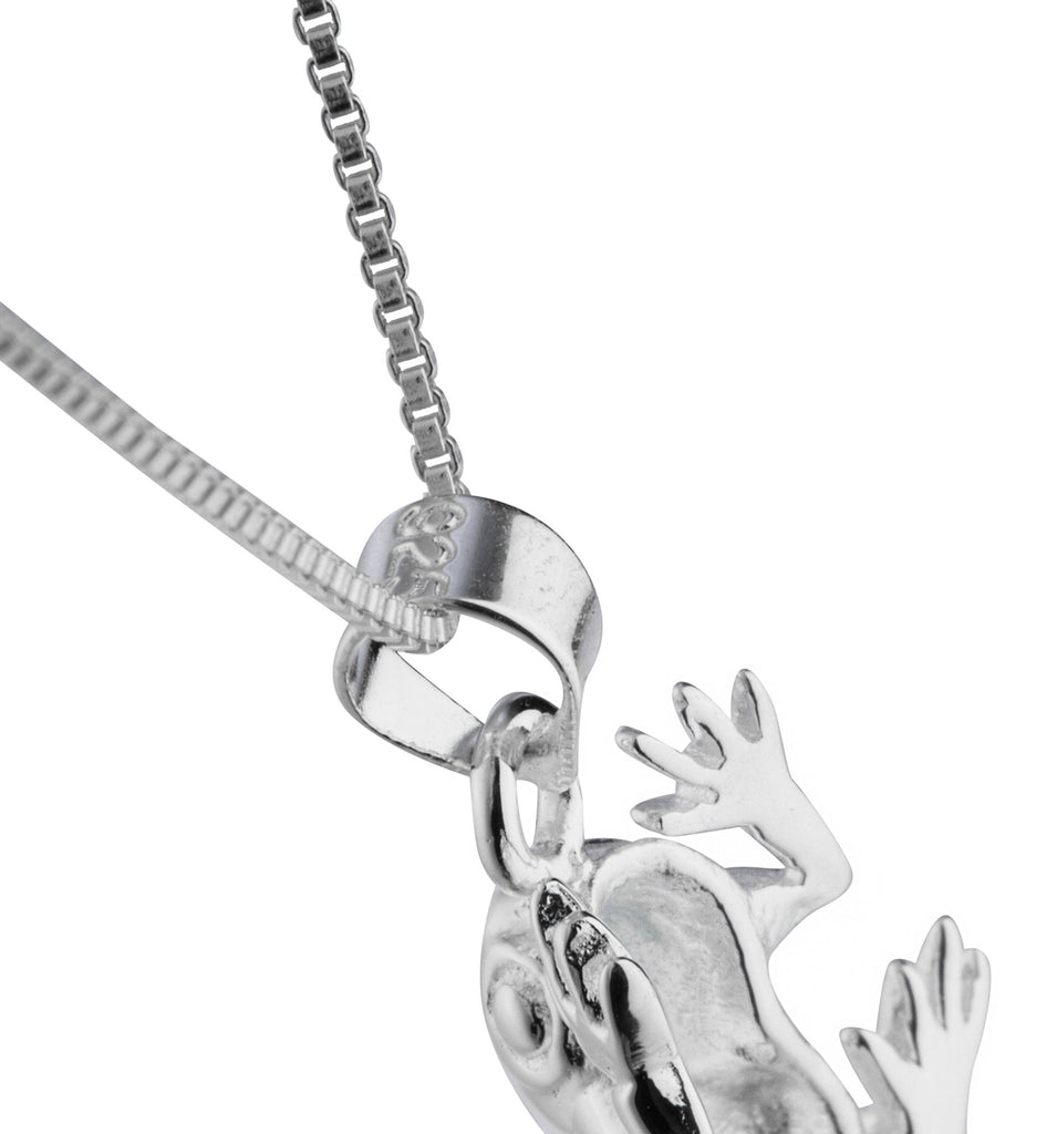 Real 925 Sterling Silver Frog Pendant...