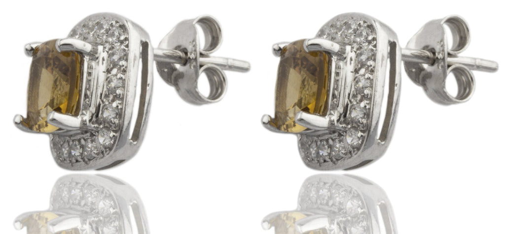 Real 925 Sterling Silver Genuine Citrine...