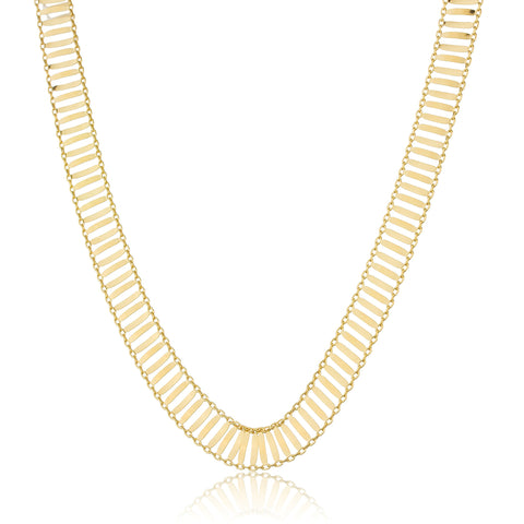 Real 925 Sterling Silver Goldtone 10mm 18 Inch Id Bar Link Chain Necklace