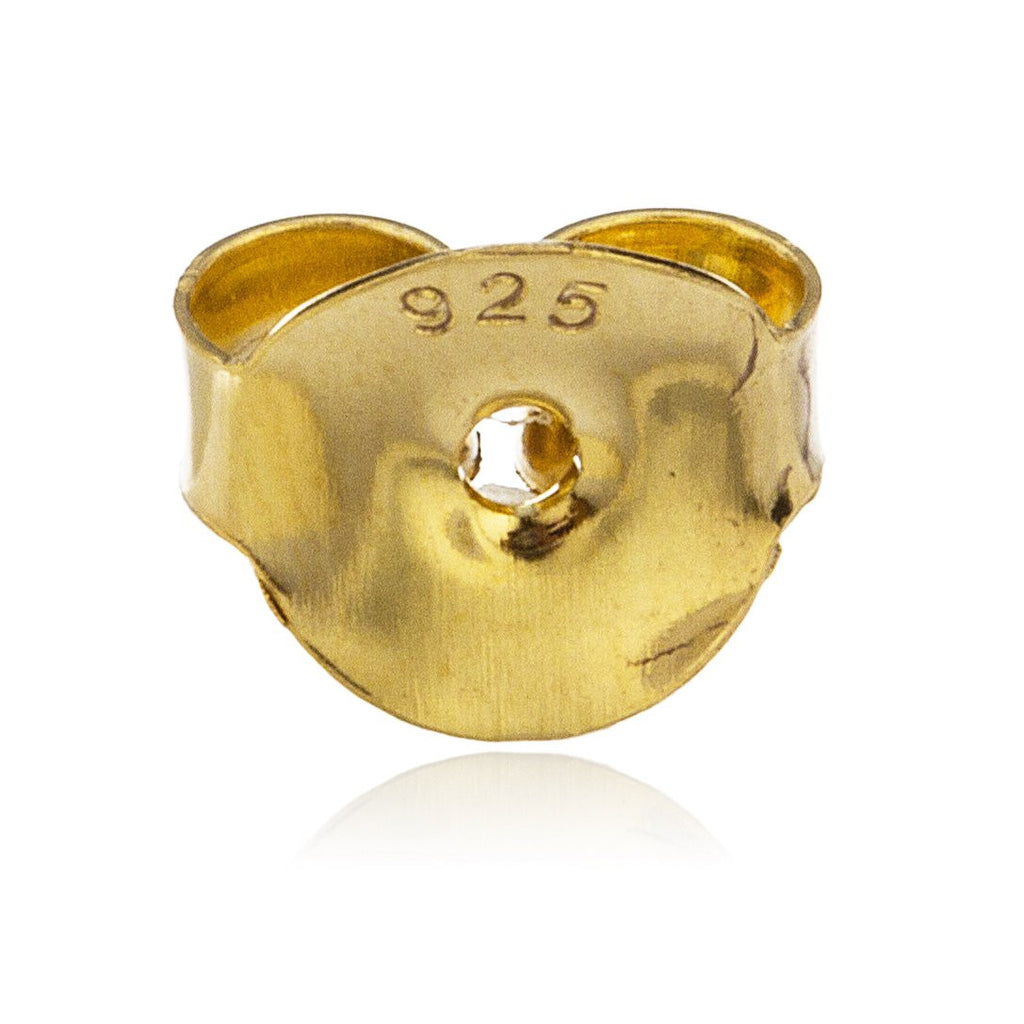 Real 925 Sterling Silver Goldtone 10mm...