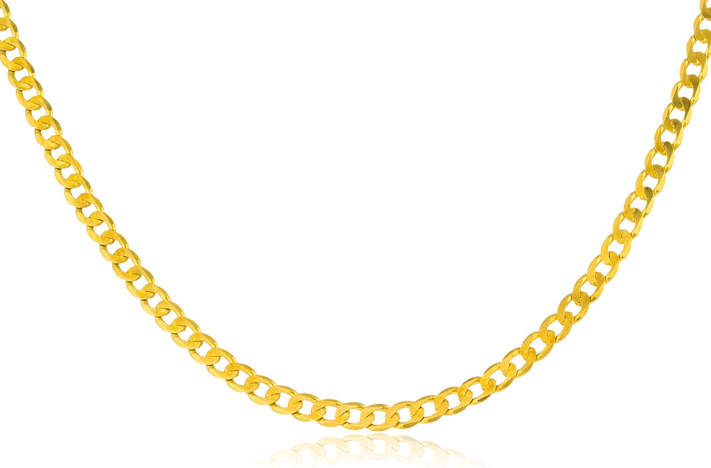 Real 925 Sterling Silver Goldtone 3mm...
