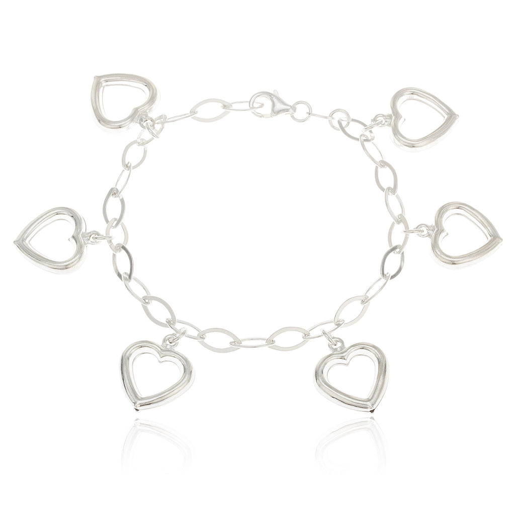 Real 925 Sterling Silver Heart Charmed...
