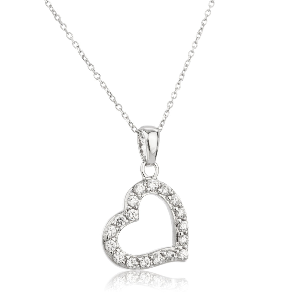 Real 925 Sterling Silver Heart Rim...