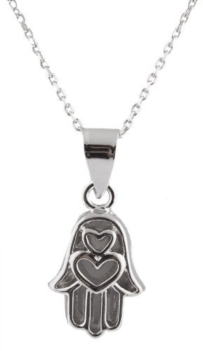 Hearts Style Hamsa Pendant Chain Necklace...