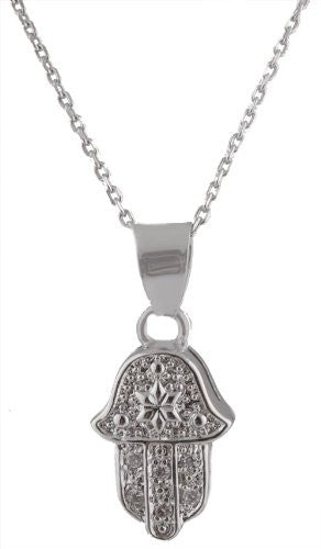 Iced Out Hamsa Pendant with Star...