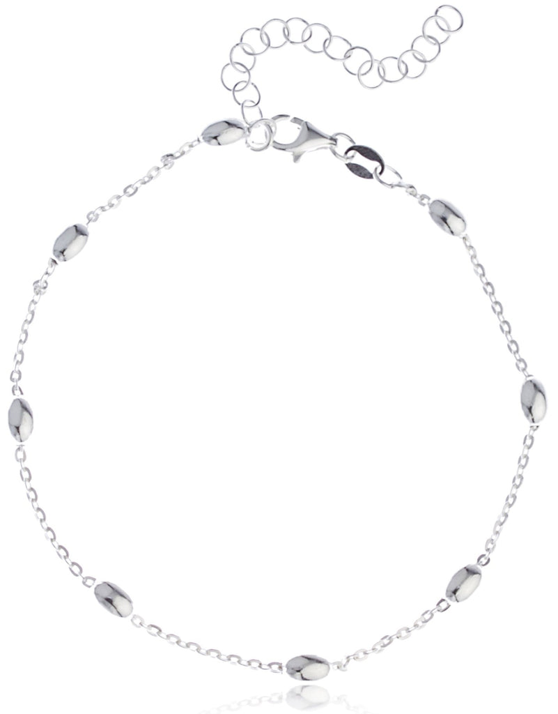 Real 925 Sterling Silver Oval Beaded...