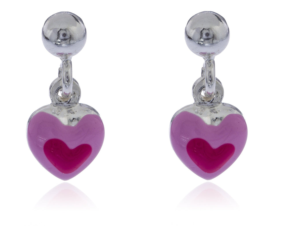 Real 925 Sterling Silver Pink Heart...