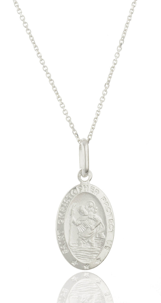 Real 925 Sterling Silver Saint Christopher...