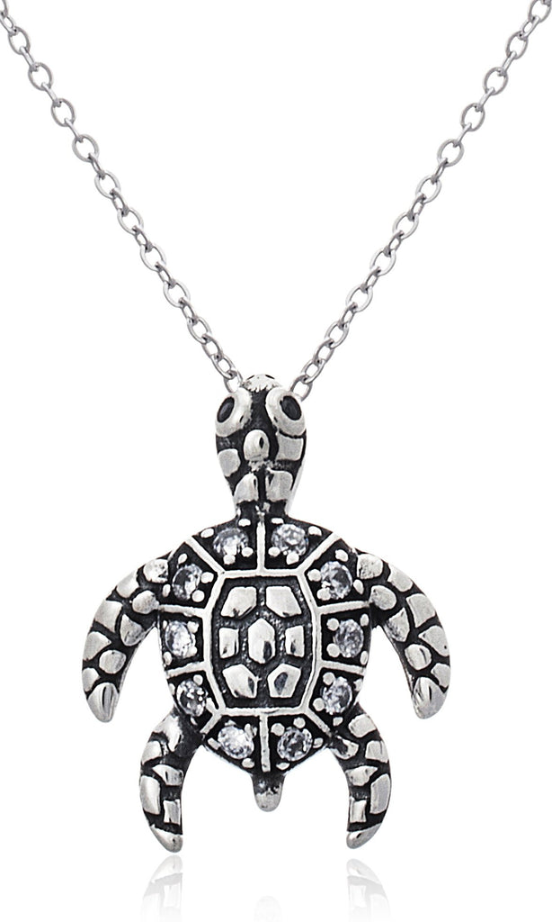 Real 925 Sterling Silver Sea Turtle...