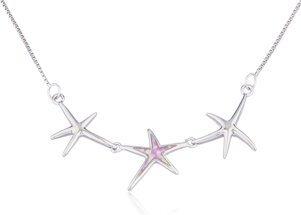 Real 925 Sterling Silver Triple Star...