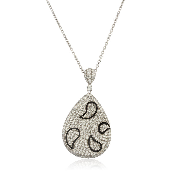 Real 925 Sterling Silver With Cubic Zirconia Teardrop Pendant With An 18 Inch Link Necklace