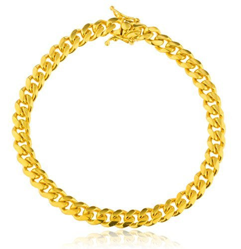 Real 925 Sterling Vermeil 7mm Miami...