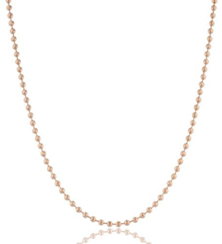 Rose Goldtone 4mm Moon Cut Beaded...