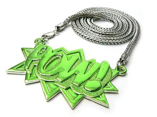 Silver With Green Zinc Pow! Pendant...