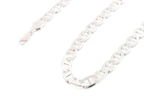 Silvertone 30 Inch Valentino Chain 9mm Necklace