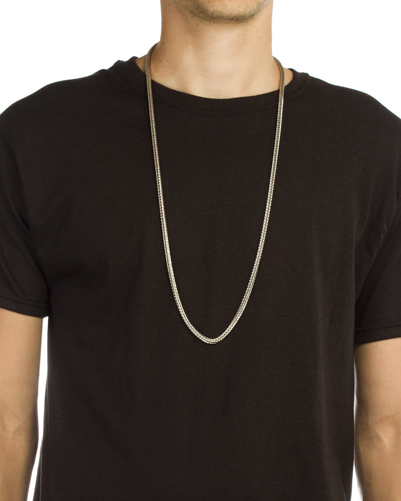 Silvertone 36 Inch Franco Chain Necklace...