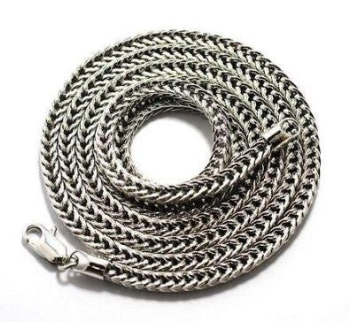 Silvertone 4mm 30 Inch Franco Chain...
