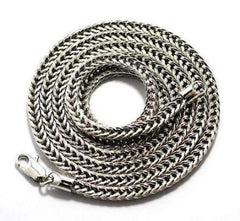 Silvertone 4mm 30 Inch Franco Chain 4mm Necklace