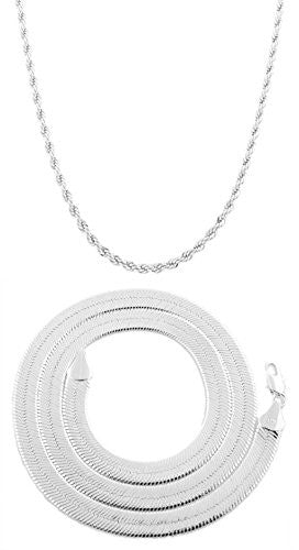 Silvertone 5mm 20 Inch Rope Chain...