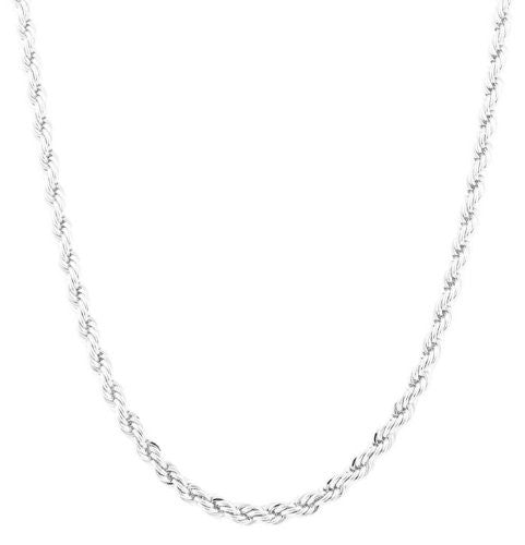 Silvertone 6mm 30 Inch Rope Chain...