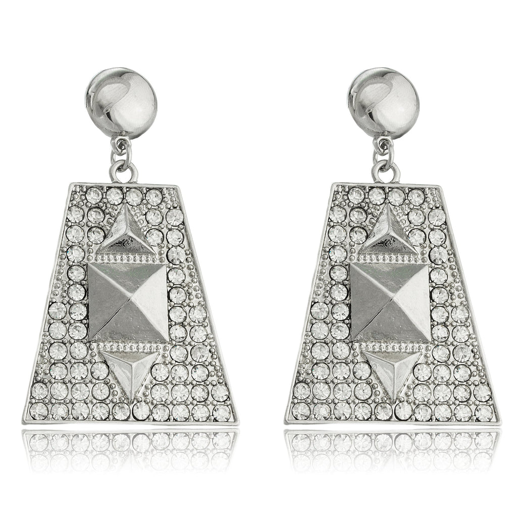 Silvertone Egyptian Pyramid With Stones Dangling...