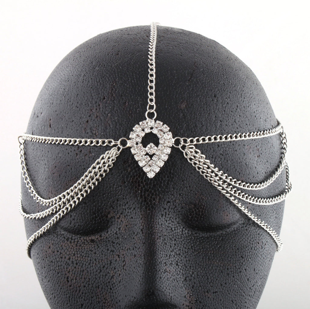 Silvertone Metal Head Chain With A...