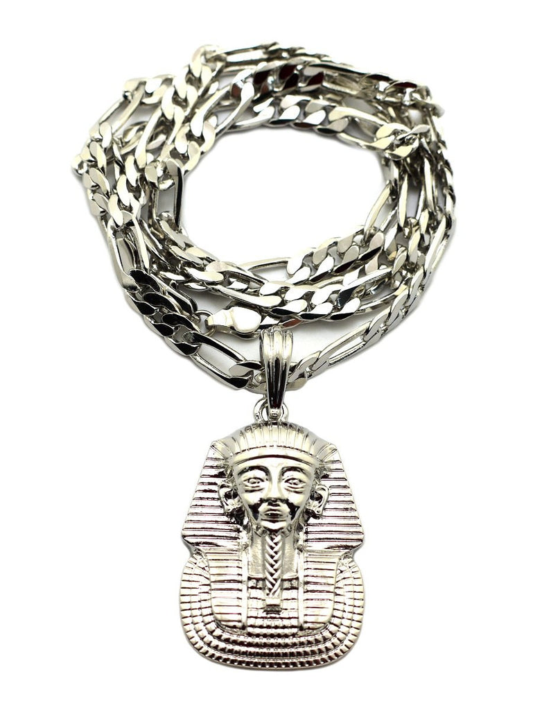 Silvertone Pharaoh Pendant With A 5mm...