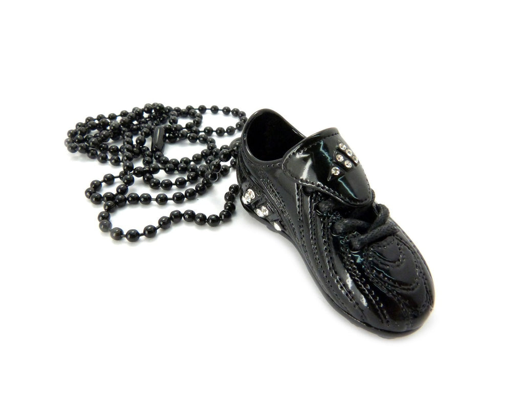 Small Black Sneaker Pendant With Rhinestones...