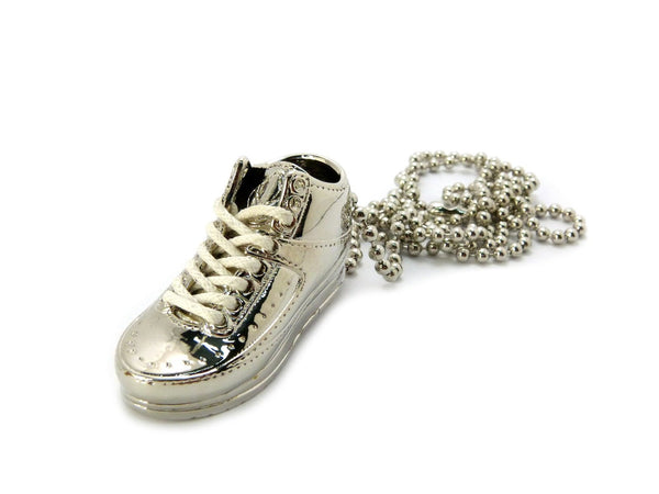 Small Silver Sneaker Pendant With A 30 Inch Ball Chain Necklace