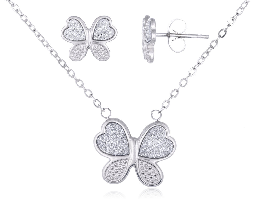 Stainless Steel Butterfly And Sandblast Pendant...