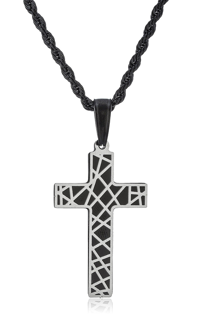 Stainless Steel Cross Design Pendant With...