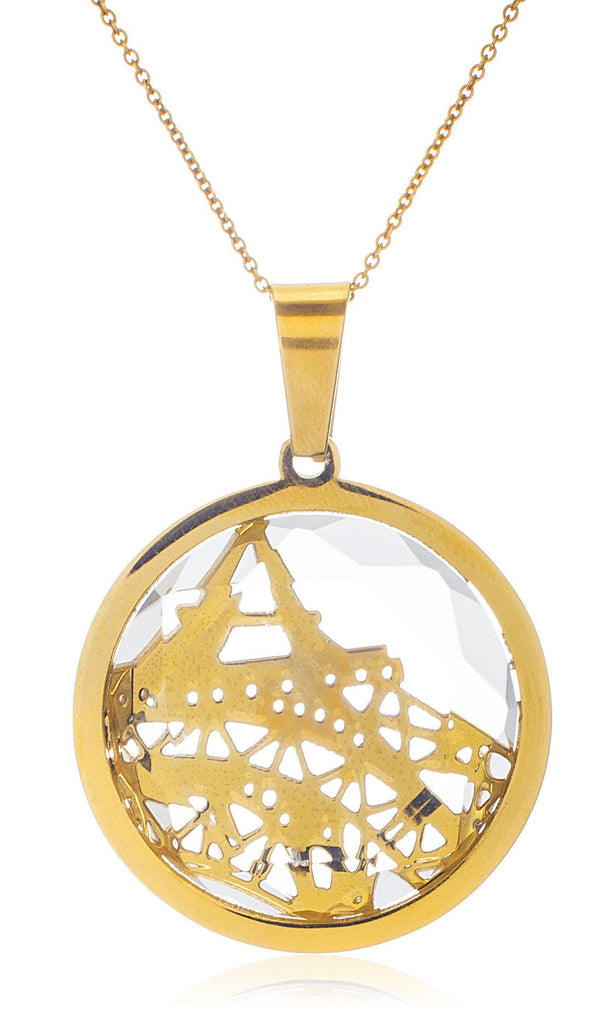 Stainless Steel Goldtone Paris Inspired Eiffel...