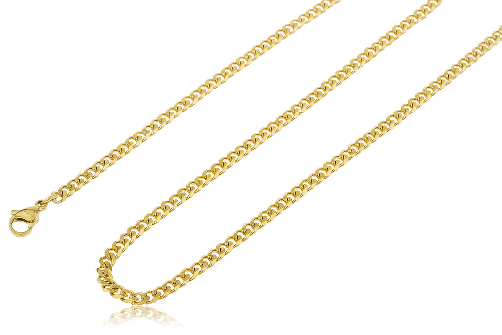 Stainless Steel Goldtone Plated 3.5mm 24...