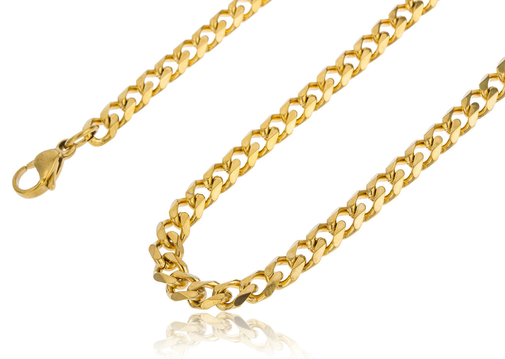 Stainless Steel Goldtone Plated 6.5mm 24...