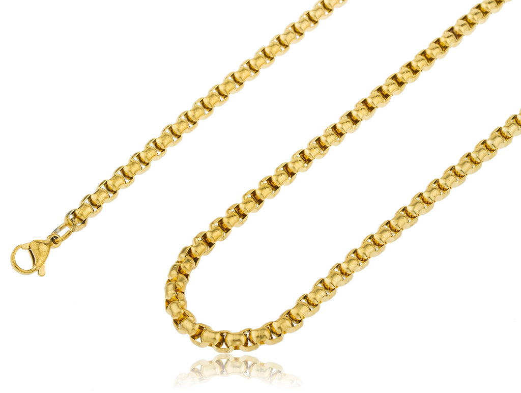 Stainless Steel Goldtone Plated 6mm 24...