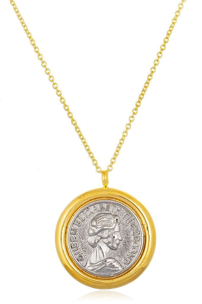 Stainless Steel Goldtone Queen Elizabeth The...