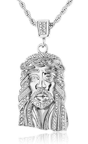 Stainless Steel Iced Out Large Jesus...