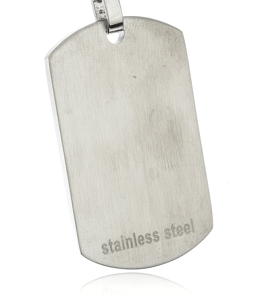 Stainless Steel Large Silver Dog Tag...