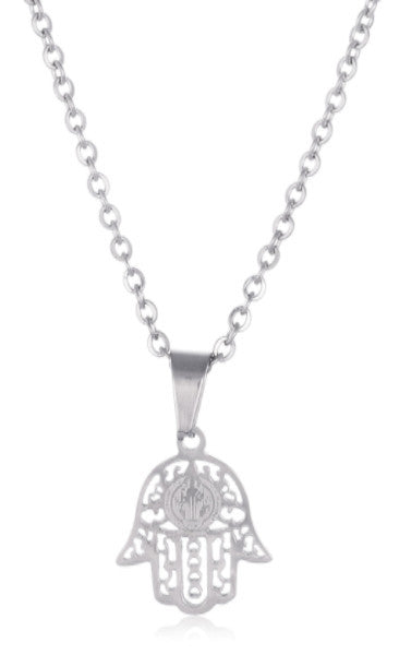 Stainless Steel Mini Hamsa Hand Link...