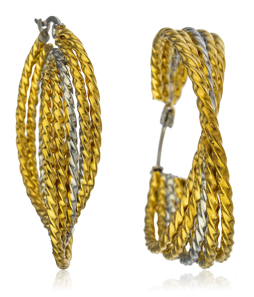 Stainless Steel Rope Style Tri Tone...