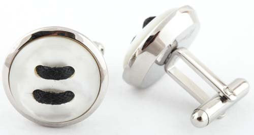 Stainless Steel Silver Button Style Pair...