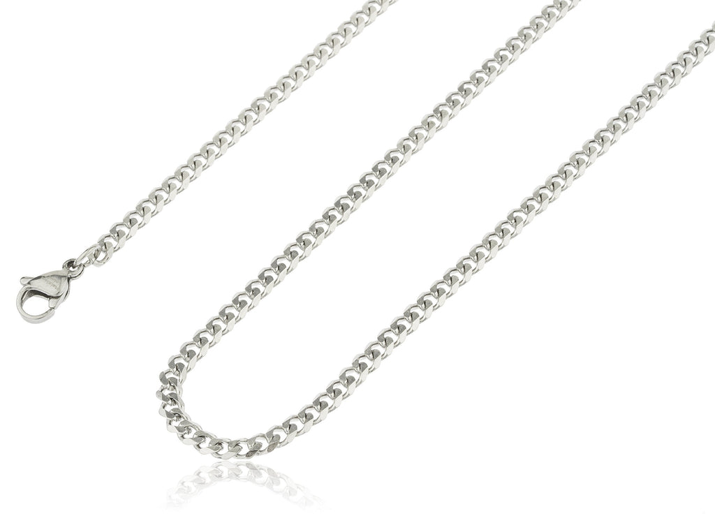 Stainless Steel Silvertone Plated 3.5mm 24...