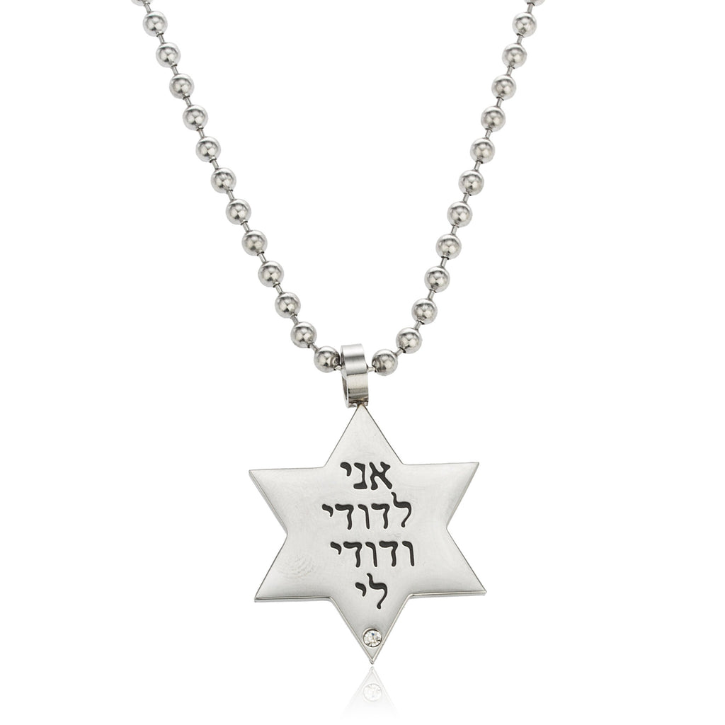 Stainless Steel Star Of David Pendant...