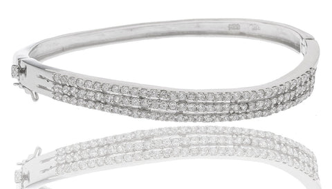 Bridal Bangle with Cubic Zirconia Stones